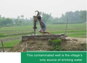 This contaminated well is the village's only source of drinking water