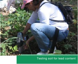 Testing soil for lead content
