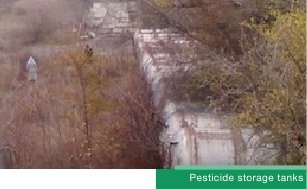 Pesticide storage tanks