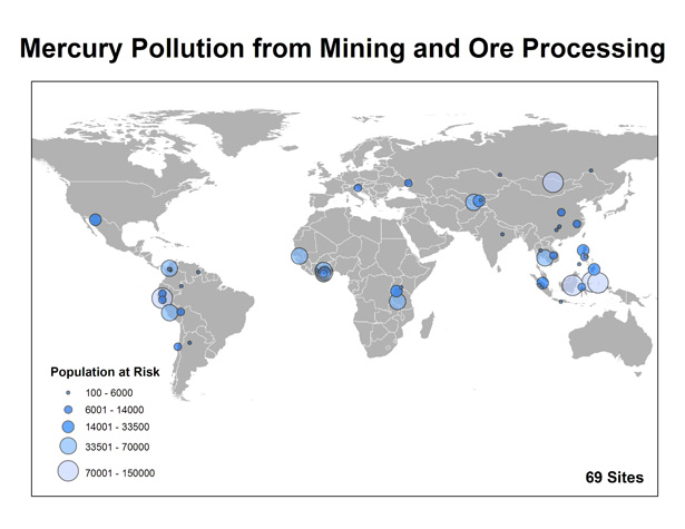 Arisanal Gold Mining - Mercury Pollution Map
